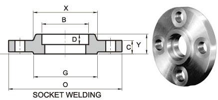 socket weld flanges - ASME B16.5 A182 F304 SW Flange RF DN65 300LB