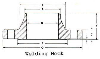 weld neck flange - What is a weld neck flange