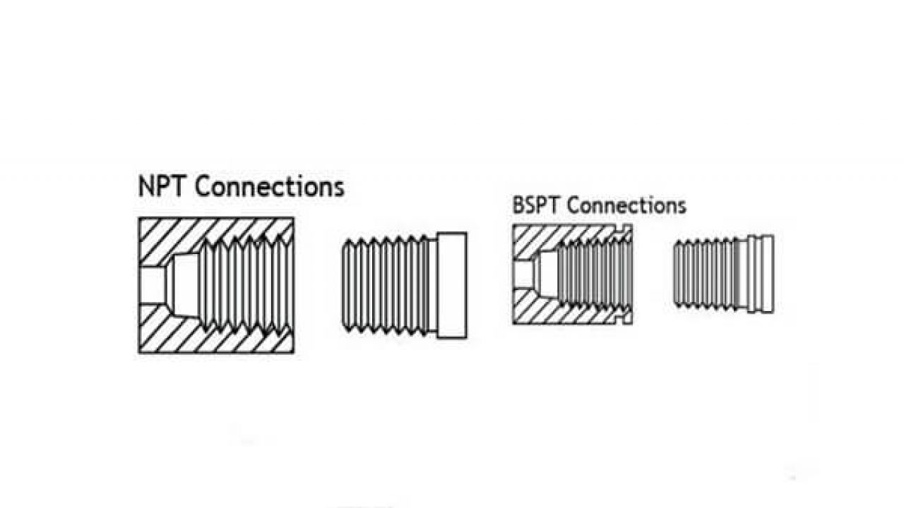 The difference between NPT and BSP seals - www steeljrv com