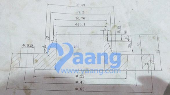 wnrf flange 2 1 2 inch pn25 - ASME B16.5 A182 F304 WNRF Flange 2-1/2 Inch PN25