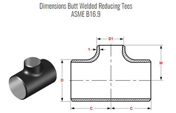 20170827105555 33690 - ASME B16.9 ASTM A815 2205 Reducing Tee 3 - 1-1/4 Inch SCH40
