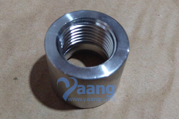 ASTM A182 F53 Threaded NPT Half Coupling DN25 CL3000