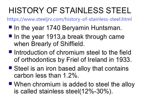 The History of Stainless Steel