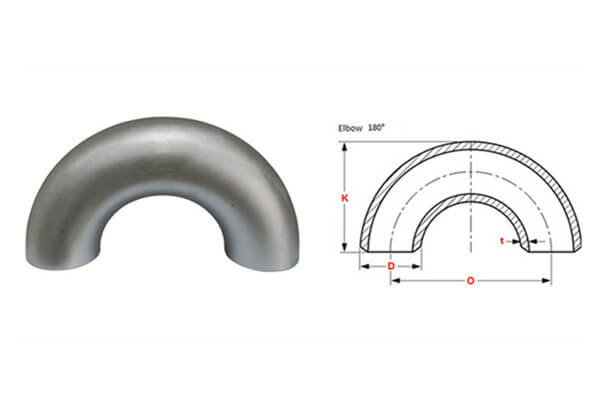 Inconel 625 180 Degree Elbow