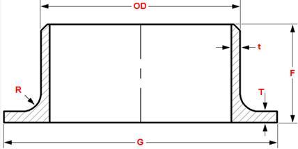 20171211164116 72611 - ASME B16.9 ASTM A403 WP316L SMLS STUB END BW DN250 SCH10S