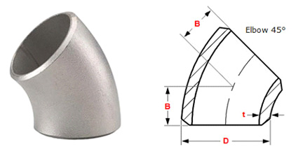 45 deg long redius dimen - How to get high quality stainless steel elbows?