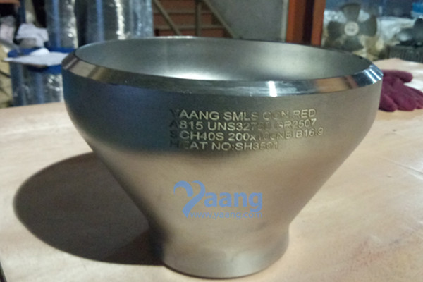 ASME B16.9 ASTM A815 UNS S32750 SMLS Concentric Reducer DN200xDN100 SCH40S