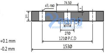 20185291725451019610 - ASTM B574 Hastelloy C276 Custom Blind Flange RF 2 Inch 150LB