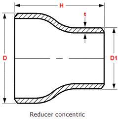 """20180612074644 77120 1 - ASME B16.9 ASTM A403 WP316L Concentric Reducer 2-1/2"""" - 2"""" SCH60"""