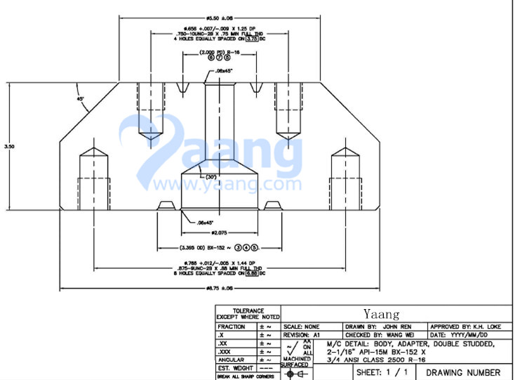 20186102255256616046 - Alloy 625 Double Studded Adapter Flange