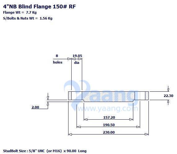 "20188202141427952533 - ASME B16.5 A182 304L Blind Flange RF 4"" Class 150"