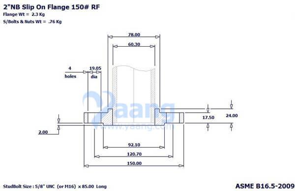 """20188212119443688739 - ASME B16.5 A182 304L SORF Flange 2"""" 150#"""