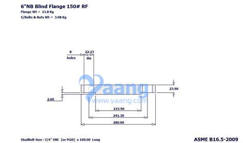 "201888204561529376 - ASME B16.5 A182 304L Blind Flange RF 6"" Class 150"