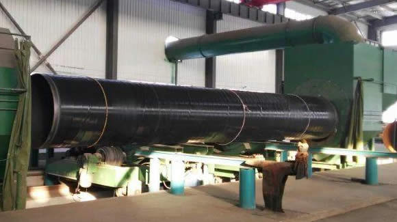 Anti corrosion surface treatment process of spiral pipe - How to buy welded steel pipes?