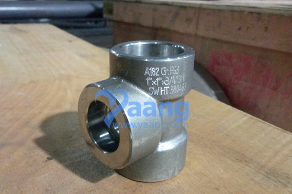ASME B16.11 ASTM A182 F53 SW Reducing Tee 1″ X 1″ X 3/4″ 3M
