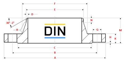 """201891223975821872 - DIN EN 1092/1 Type 11 GR.2507 Weld Neck Flange 2"""" PN100"""