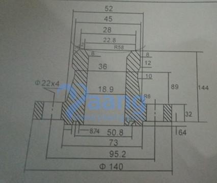 "2018922315106583499 - ANSI B16.5 ASTM A182 F51 Nipoflange RTJ 4"" X 3/4"" SCH80S Class2500"