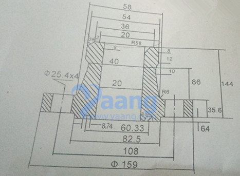 "2018923193168308627 - ANSI B16.5 ASTM A182 F51 Nipoflange RTJ 4"" X 1"" SCH160S Class2500"