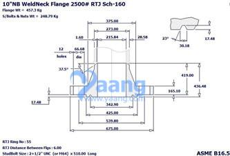 20181110109386750903 - ASME B16.5 ASTM A182 F53 WNRTJ Flange 10 Inch 2500#