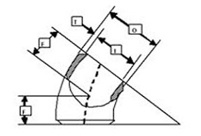45 deg short redius dimen - Long Radius Elbow VS Short Radius Elbow