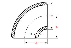90 deg short redius dimen - Long Radius Elbow VS Short Radius Elbow