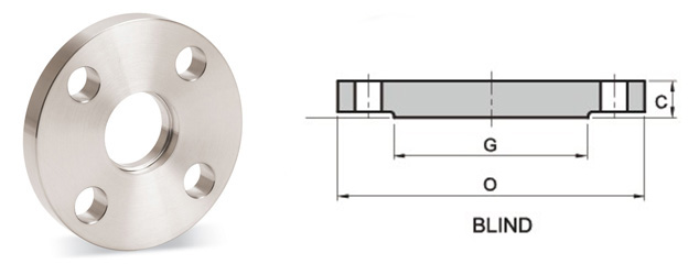 201511272054296607394 - ANSI B16.5 316L Blind Flange RTJ 6 Inch 900# R45