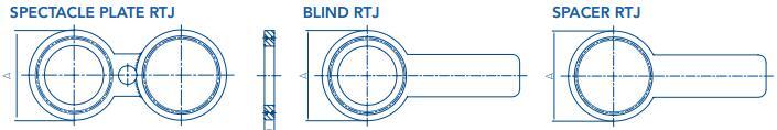 20181130192437484240 - ASME B16.48 316L Spade Blind Flange RTJ 6 Inch 900# R45