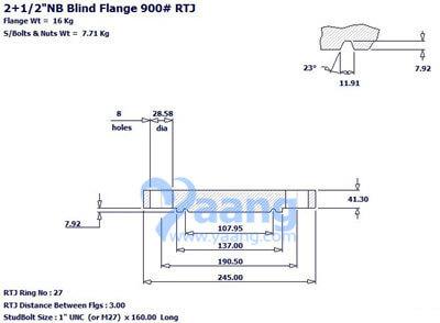 201812241811525643481 1 - ANSI B16.5 F316L Blind Flange RTJ 2.5 Inch 900#