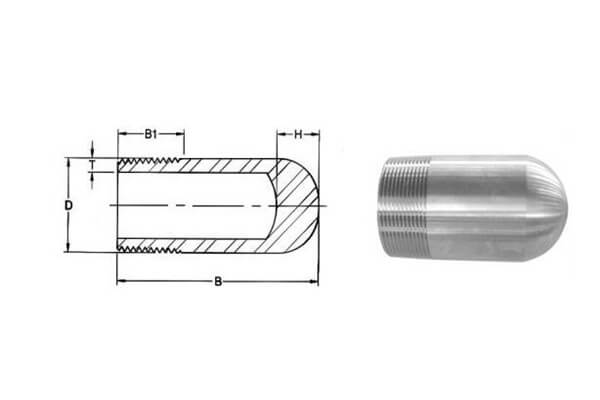 ASME B16.11 / BS3799 Threaded Bull Plug