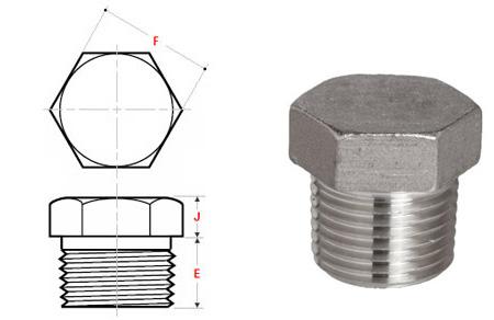asme b16.11 threaded hex head plug dimensions - ASME B16.11 Threaded Hex Head Plug