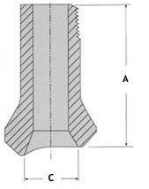 nipolet size - Steel Nipolet