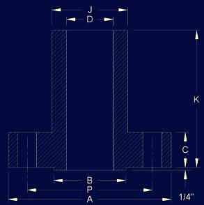 20190216024219 72793 - ANSI/ASME B16.5 Long Weld Neck Flange Dimensions