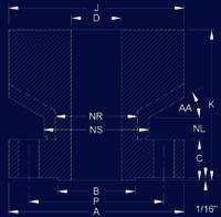 20190216025245 73132 - ANSI/ASME B16.5 Long Weld Neck Flange Dimensions
