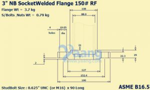 "20194131749176716845 300x180 - Socket Weld Flange 3"" 150#"