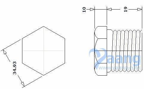 20190525231901 73189 - ASME B16.11 ASTM A182 GR.F316L Threaded Hex Head Plug DN25 3000#