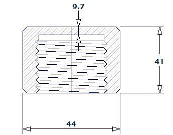 2019527101154107593 - ASME B16.11 ASTM A182 TP304 NPT Pipe Cap DN25 3000#