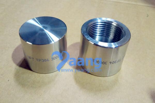 ASME B16.11 ASTM A182 TP304 NPT Pipe Cap DN25 3000#