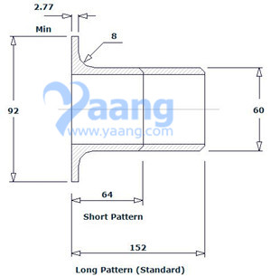 "20191031002402 34002 - ASME B16.9 ASTM B366 Hastelloy C276 Lap Joint Stub End Short Pattern 2"" Sch10S"