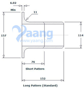 20191062212227945117 - ASME B16.9 ASTM A403 317L Lap Joint Stub End 4 Inch Sch40S