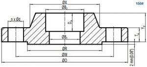 drawing asme b16 5 class 150 sw flange rf 300x138 - drawing-asme-b16-5-class-150-sw-flange-rf