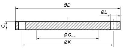 flange cieche - EN-1092-1 Type 05-A EN 1.4404 Blind Flange DN40 PN10