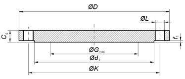 flange cieche2 - EN1092-1-2005 TYPE 05 ASTM B564 UNS N08825 Blind Flange DN150 PN16