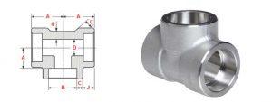 socket weld tee dimensions 300x113 - Socket Weld Unequal Tee Dimensions