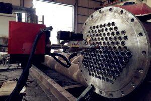 welding of high efficiency tube sheet 300x200 - Welding of high efficiency tube sheet