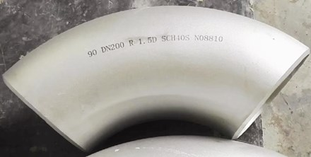 incoloy 800h uns 08810 90d elbow 8in sch40s - Nickel-based super alloy: Incoloy 800H (UNS N08810/W.Nr. 1.4958)
