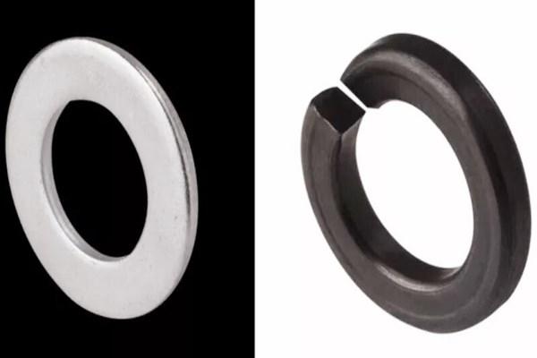 flat gasket vs spring washer - Flat gasket vs. spring washer