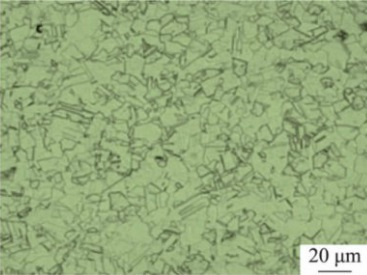 microstructure of inconel 600 after solution treatment at 1050%C2%B0C - Nickel-based super alloy: Inconel 600 (UNS N06600)
