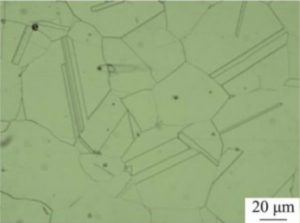 microstructure of inconel 600 after solution treatment at 1150°C 300x223 - microstructure-of-inconel-600-after-solution-treatment-at-1150°C
