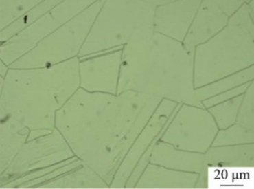 microstructure of inconel 600 after solution treatment at 1200%C2%B0C - Nickel-based super alloy: Inconel 600 (UNS N06600)