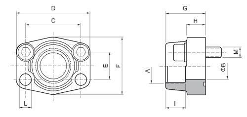 SAE BSPP thread flanges drawing - What is a SAE flange?